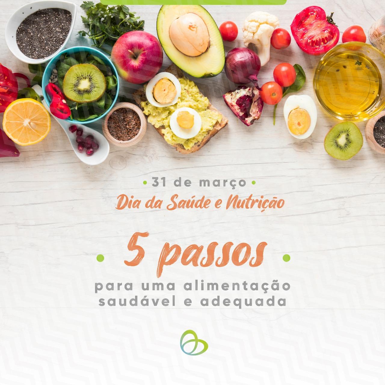 cinco passos alimentação saudavel
